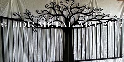 Ornamental tree design for custom gate.