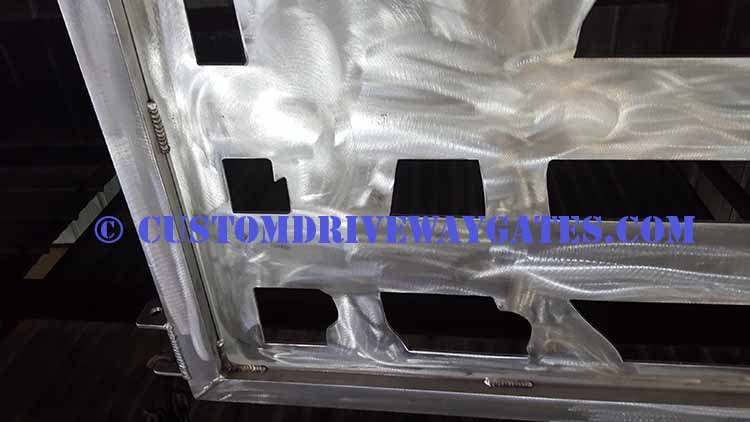 Aluminum driveway gate fabrications