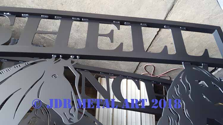 Boca Raton Driveway Gates with Custom Design JDR Metal Art 2018