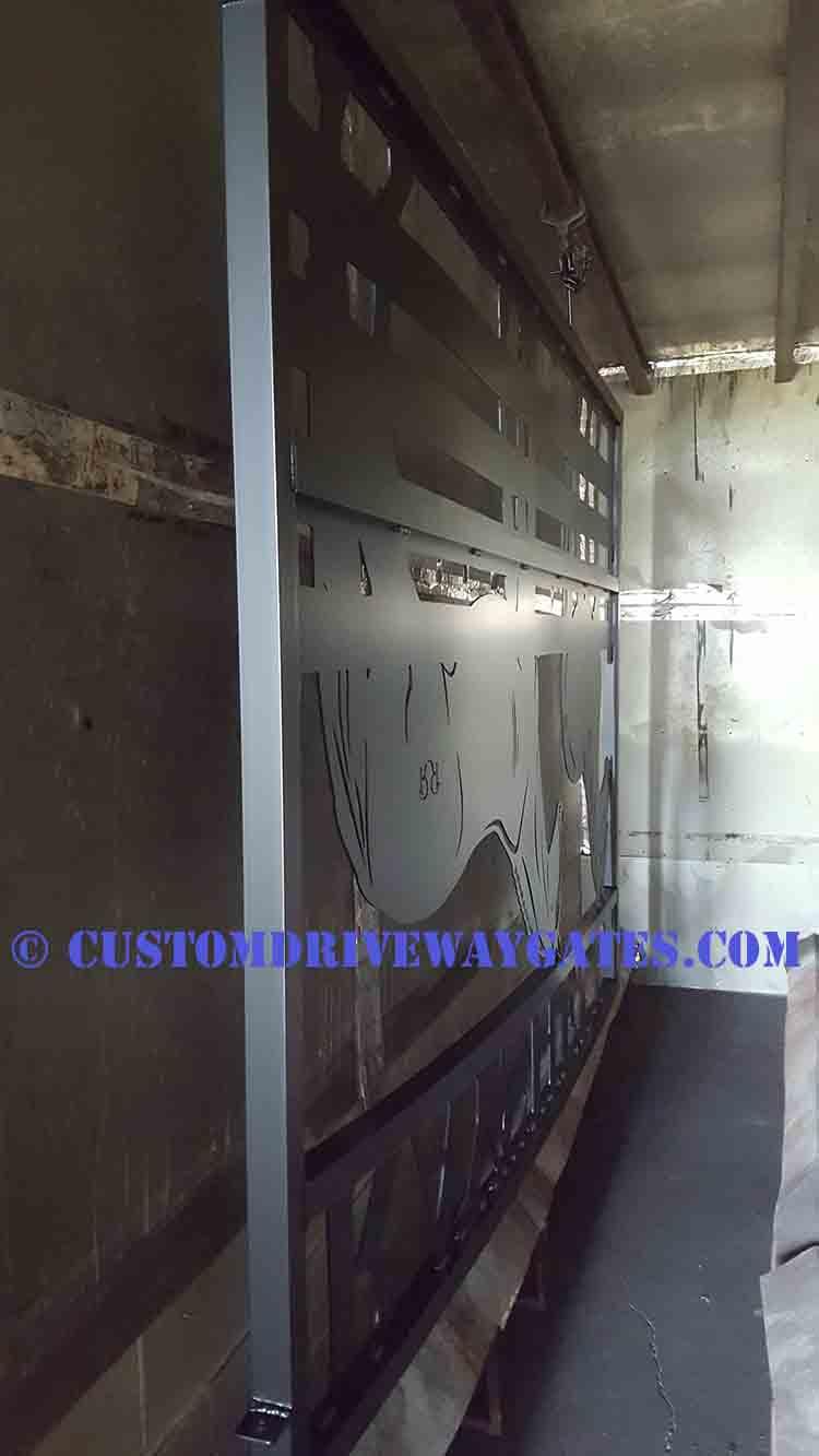 Custom Horse Driveway Gates Powder Coated Black JDR Metal Art 2018 2