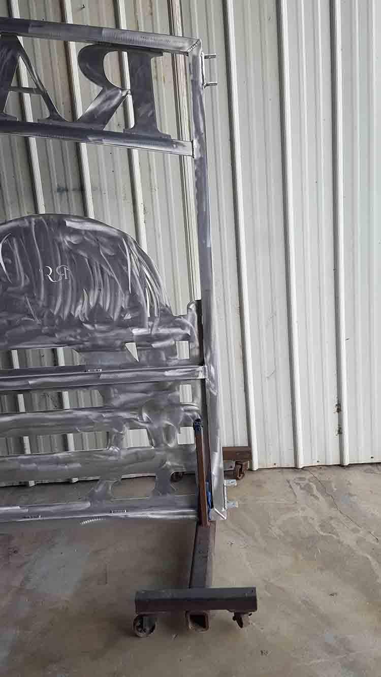 Hinges aluminum gate custom by JDR Metal Art