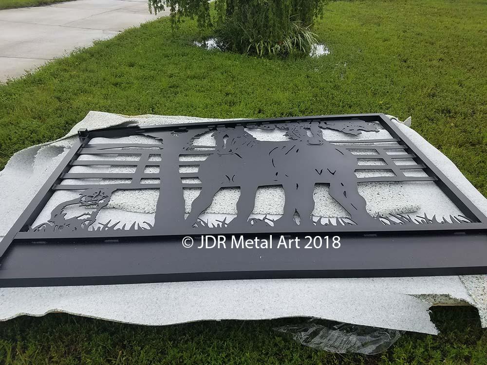 Tampa driveway gates by JDR Metal Art 2018