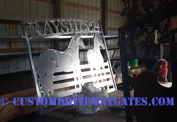 aluminum gates after fabrication