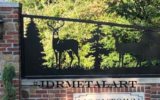 indianapolis driveway entrance metal art panels