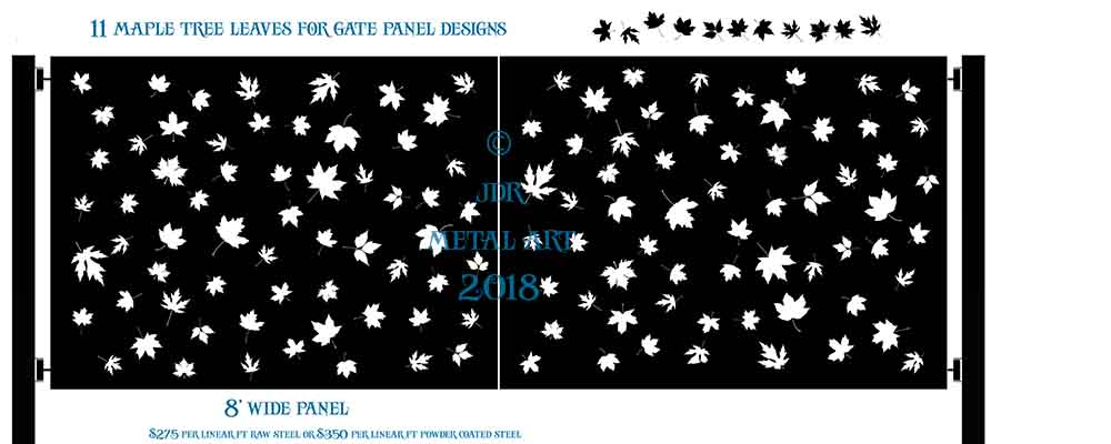 Maple Leaf Driveway Gate Design by JDR Metal Art | New in 2018