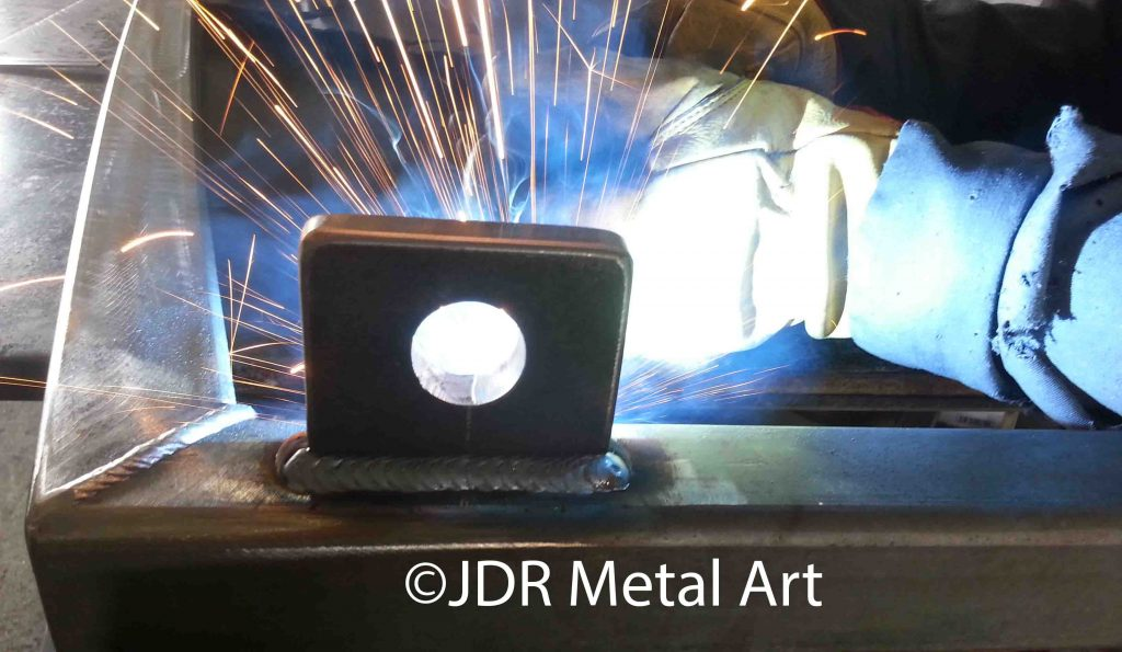 welding driveway gate hinge bracket