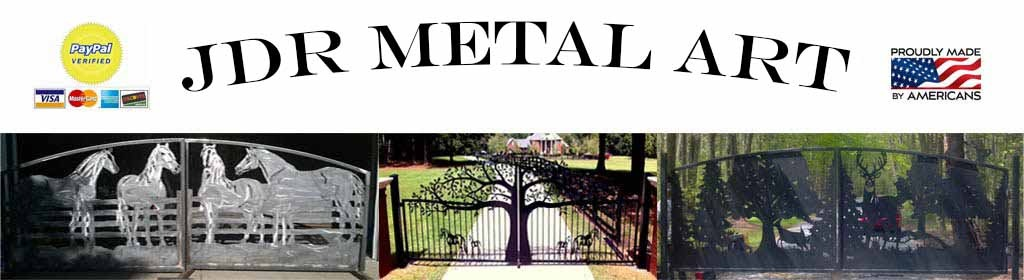 Custom Iron Steel & Aluminum Gates – JDR Metal Art – FREE Standard Shipping!