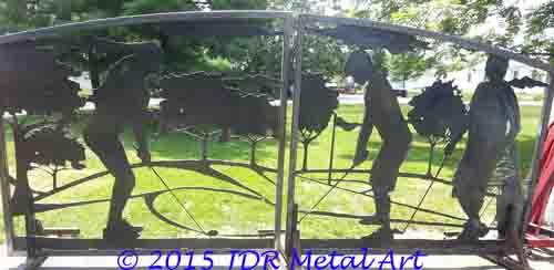 drive gates golf design by JDR Metal Art