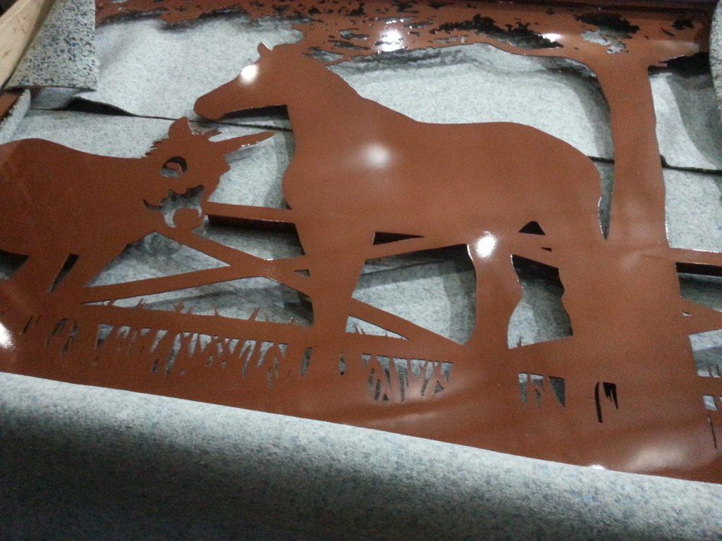 Copper powder coated aluminum gate design.