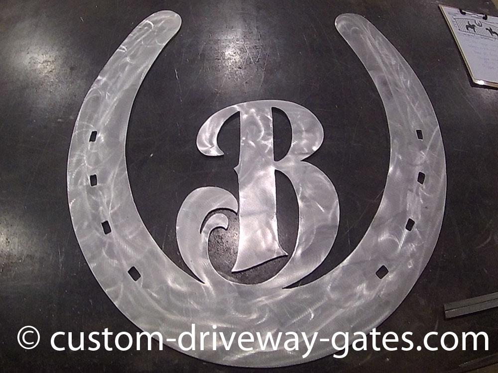aluminum driveway gate logo by jdr metal art 2017