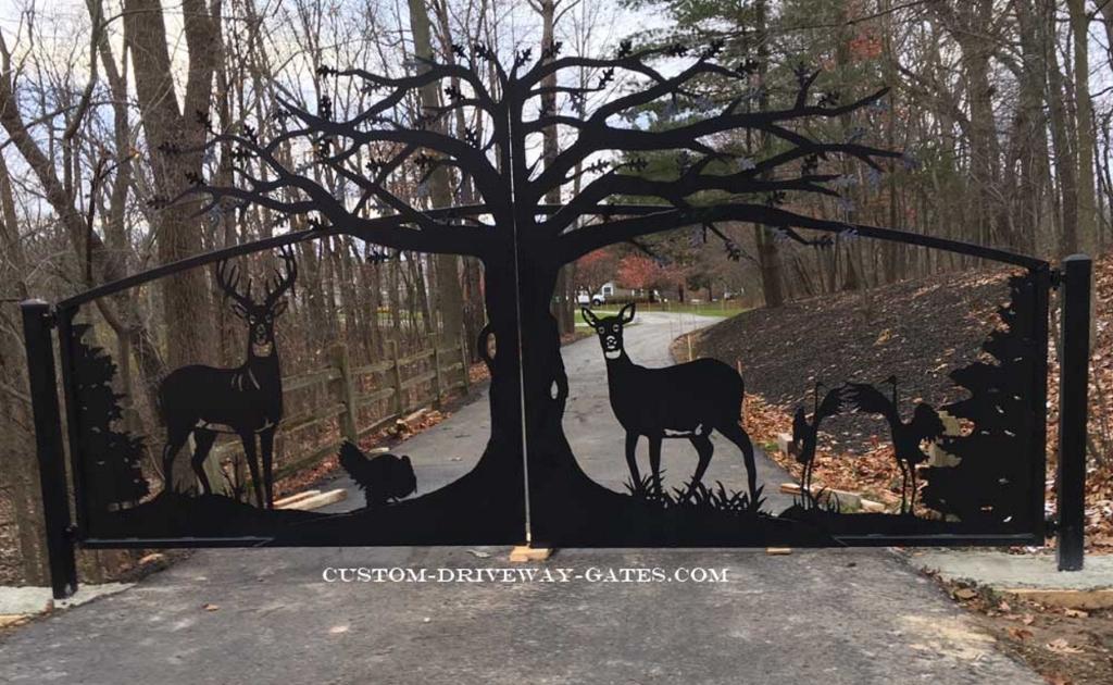 michigan driveway gate by jdr metal art 1