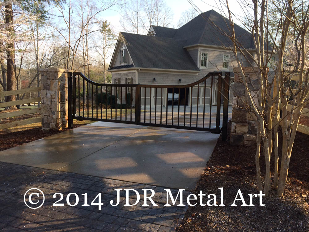 Atlanta driveway gate design by JDR Metal Art.