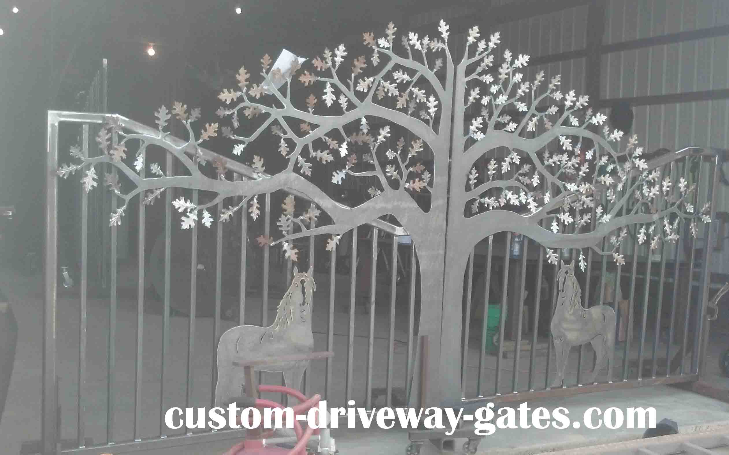 Tree Driveway Gates Designs Plasma Cut By Jdr Metal Art