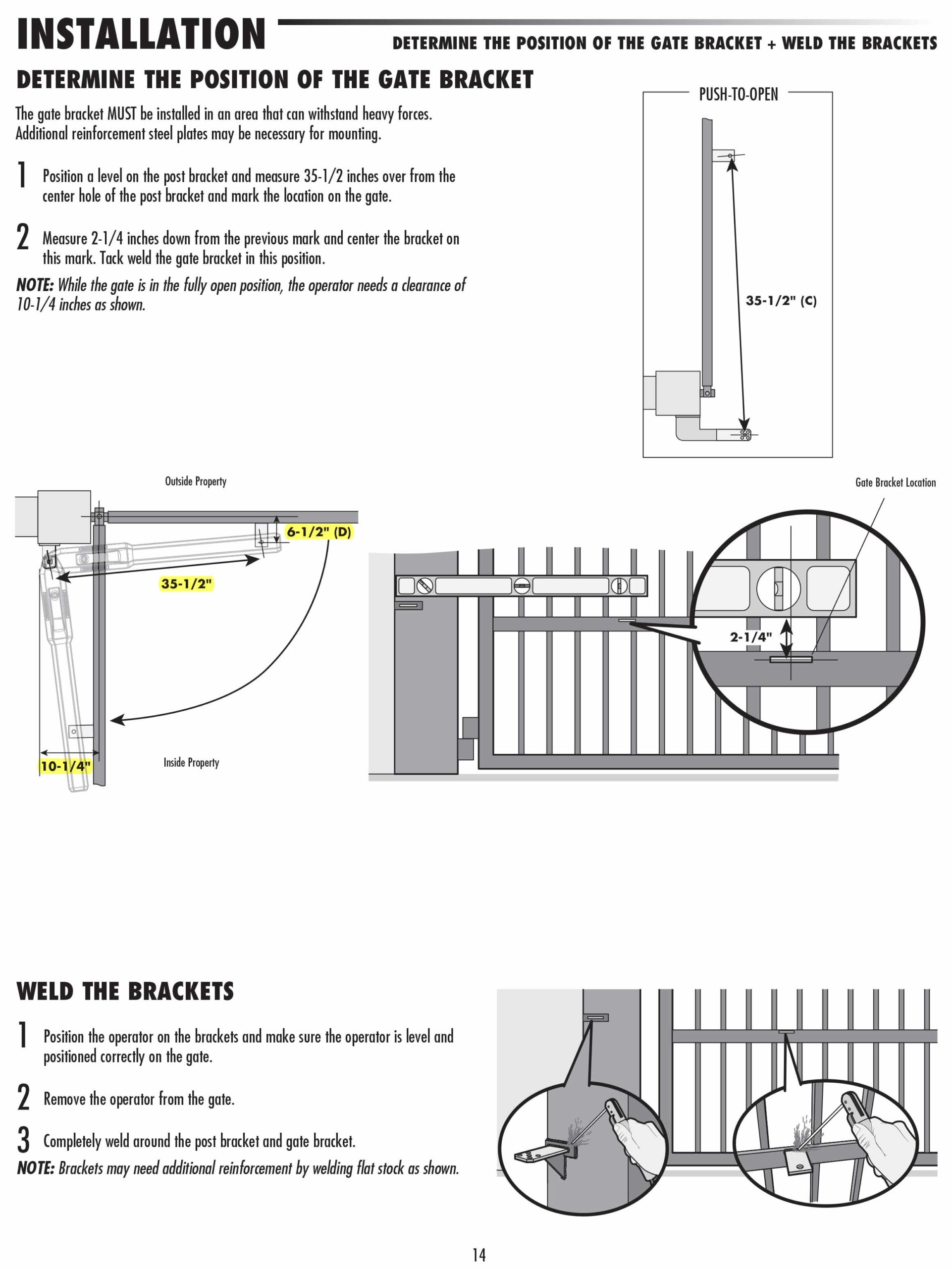 A how to guide for the installation of a swinging driveway gate bracket with a welder.