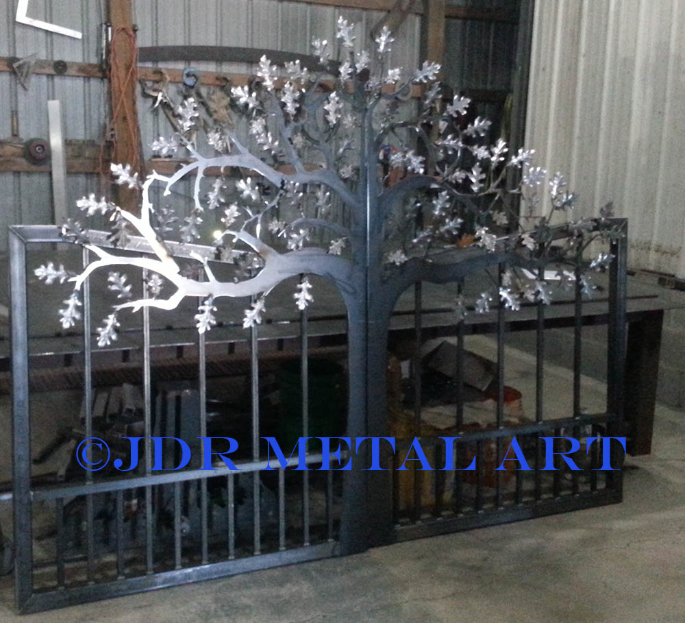 Oak tree pedestrian gate.