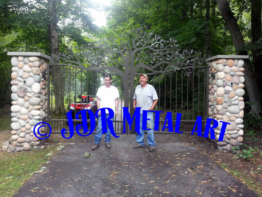 Driveway gates near me, founder of JDR Metal Art.