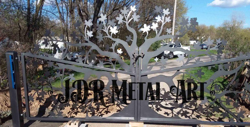 art deco driveway gate design