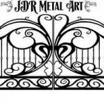 Custom design for driveway gates by JDR Metal Art created for Charleston property.