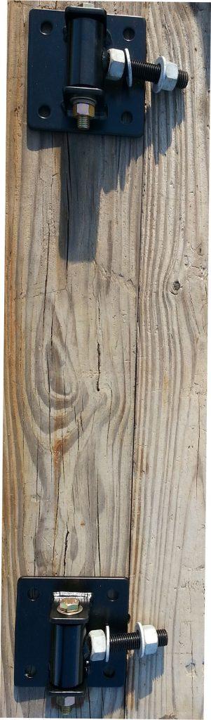 Hinge Plate Bracket for Metal Driveway Gate Wood Posts