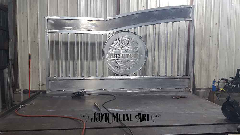 Ornamental aluminum gate panel for Pensacola job.