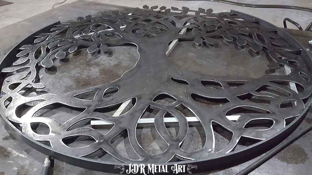 Steel tree of life gate insert
