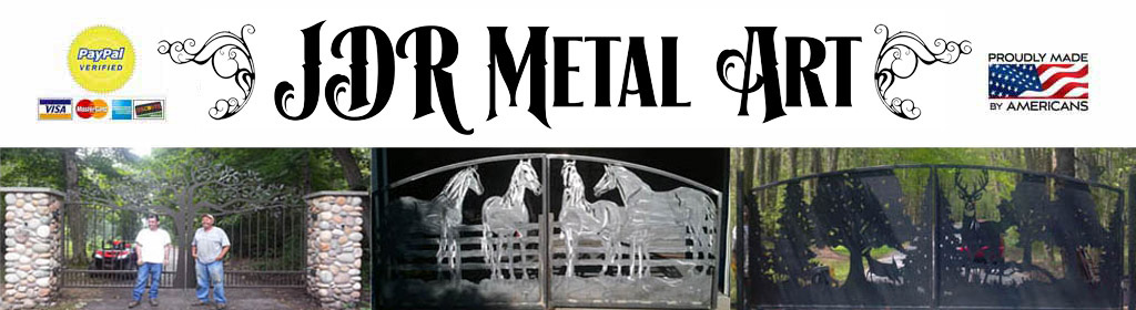 Custom Driveway Gates – JDR Metal Art – Iron Steel & Aluminum – FREE Nationwide Shipping!