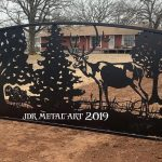 Oklahoma City driveway gates with elk design for a ranch.