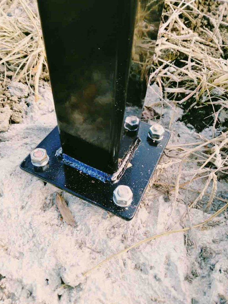 Keypad stand baseplate for gate openers