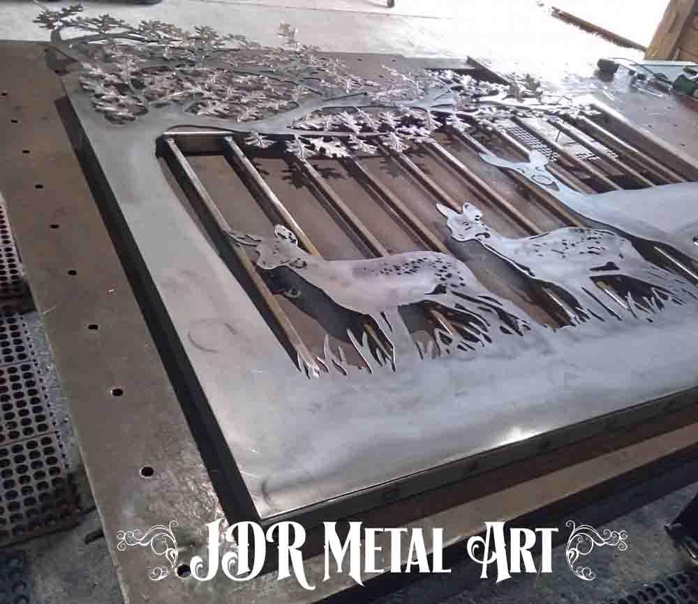 Metal art gate panel