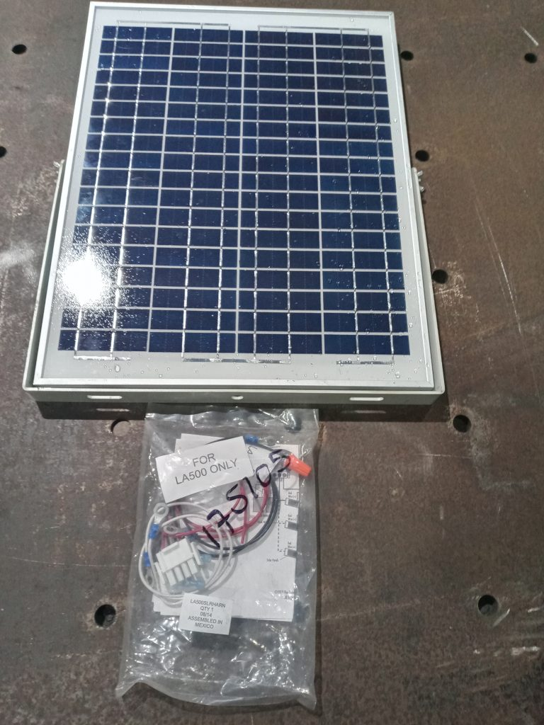 Solar Panel for LA 500 driveway gate opener JDR metal art