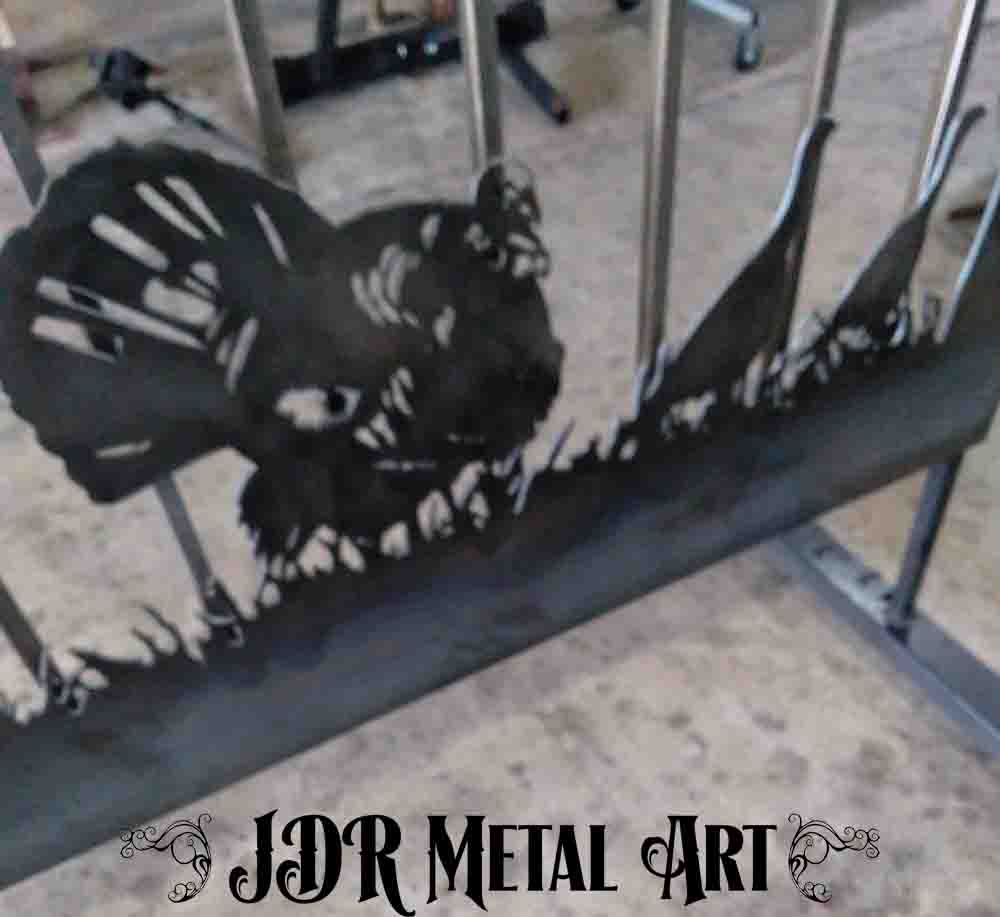 metal art turkey for driveway gate by jdr metal art