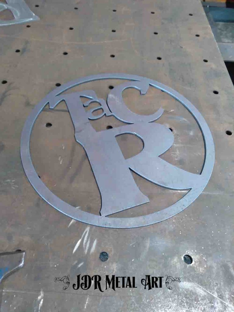 powder coated ranch brand plasma cut metal art