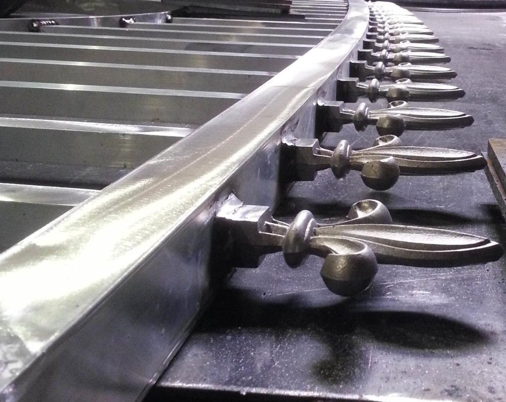 Aluminum driveway gates finials.