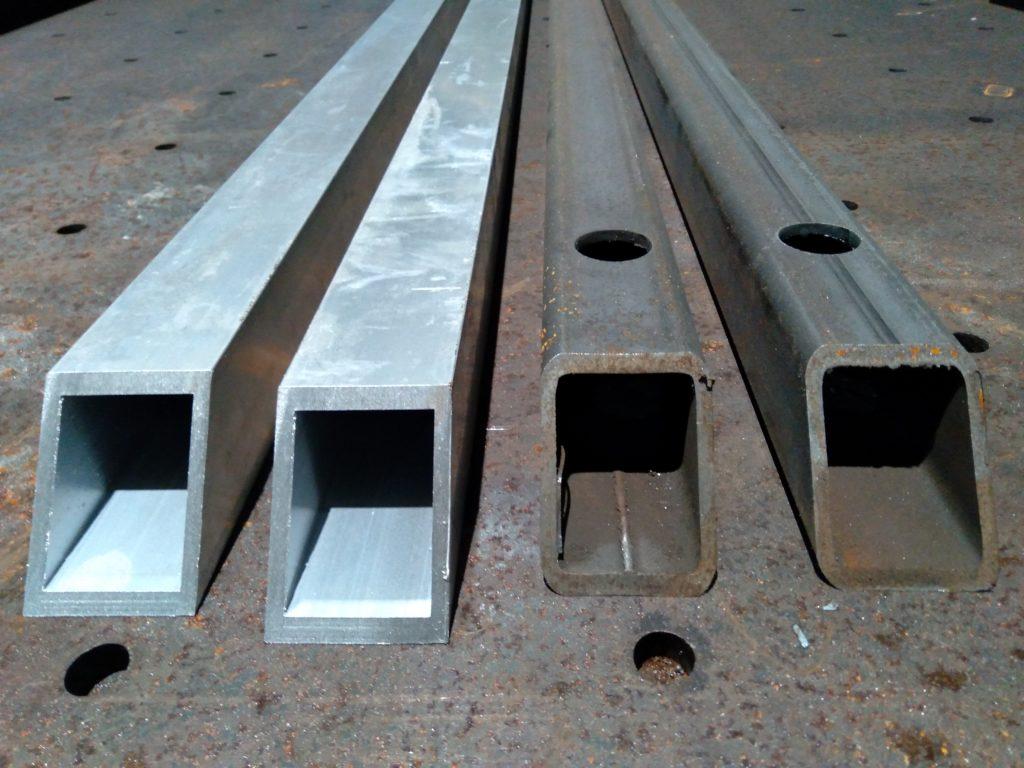 Aluminum tubing vs steel tubing for building custom driveway gates.