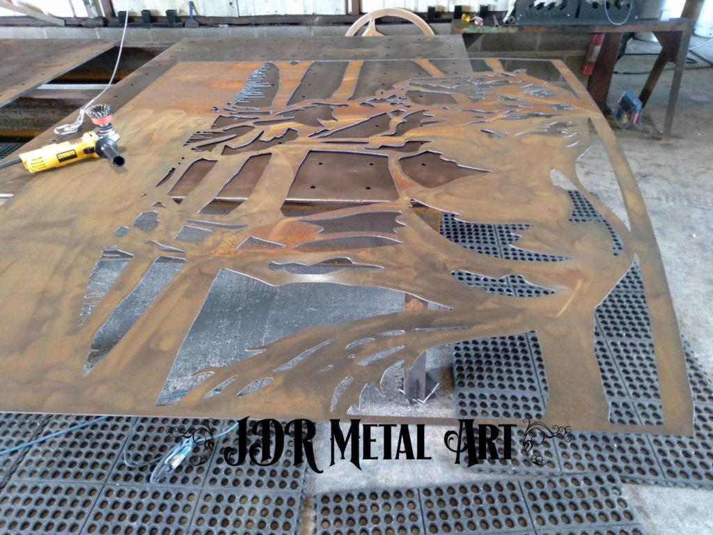 Denver driveway gates being manufactured by JDR Metal Art