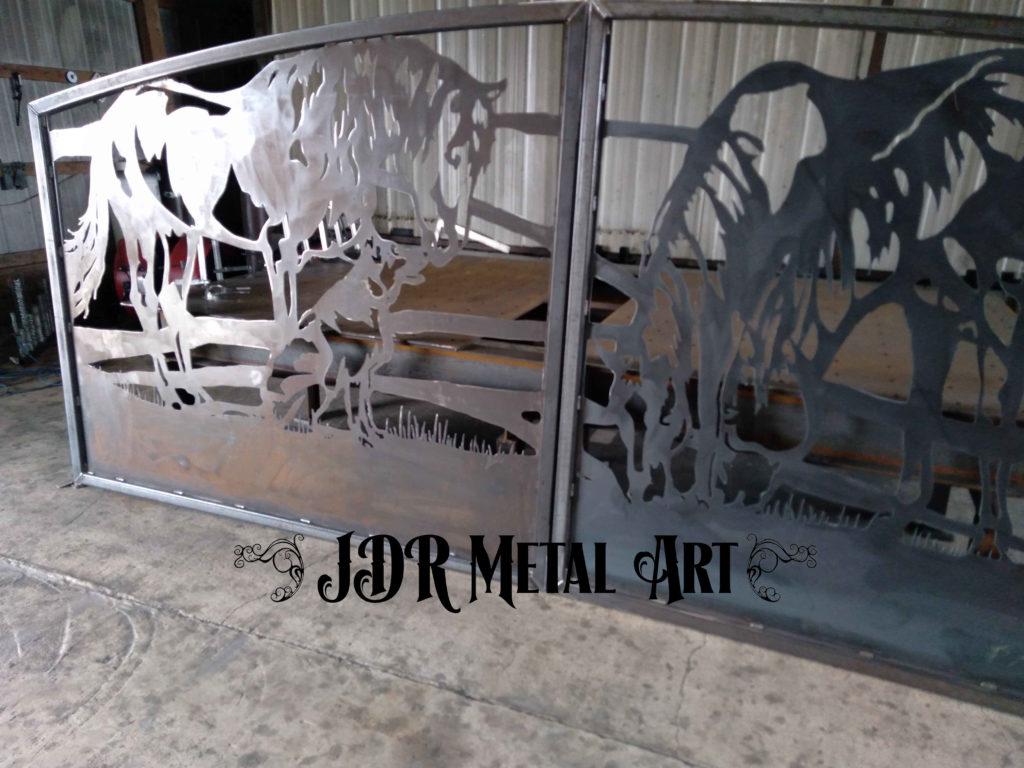 Left panel of denver metal drive gate