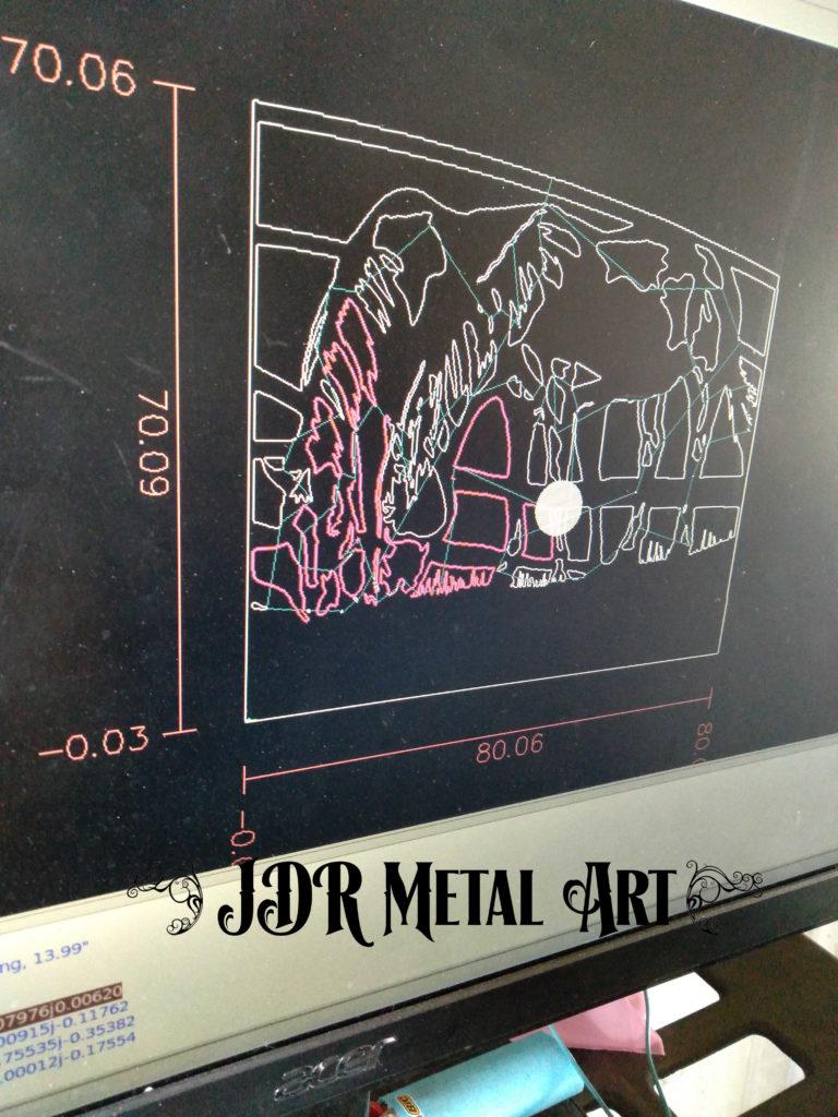 Metal art gate design Denver