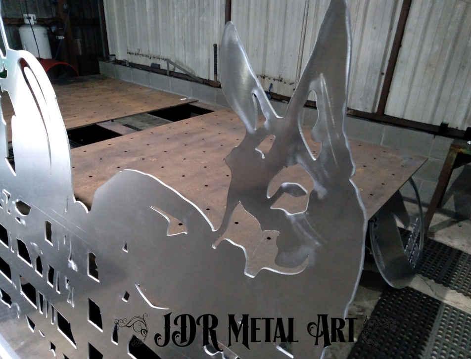 Mule driveway gate aluminum