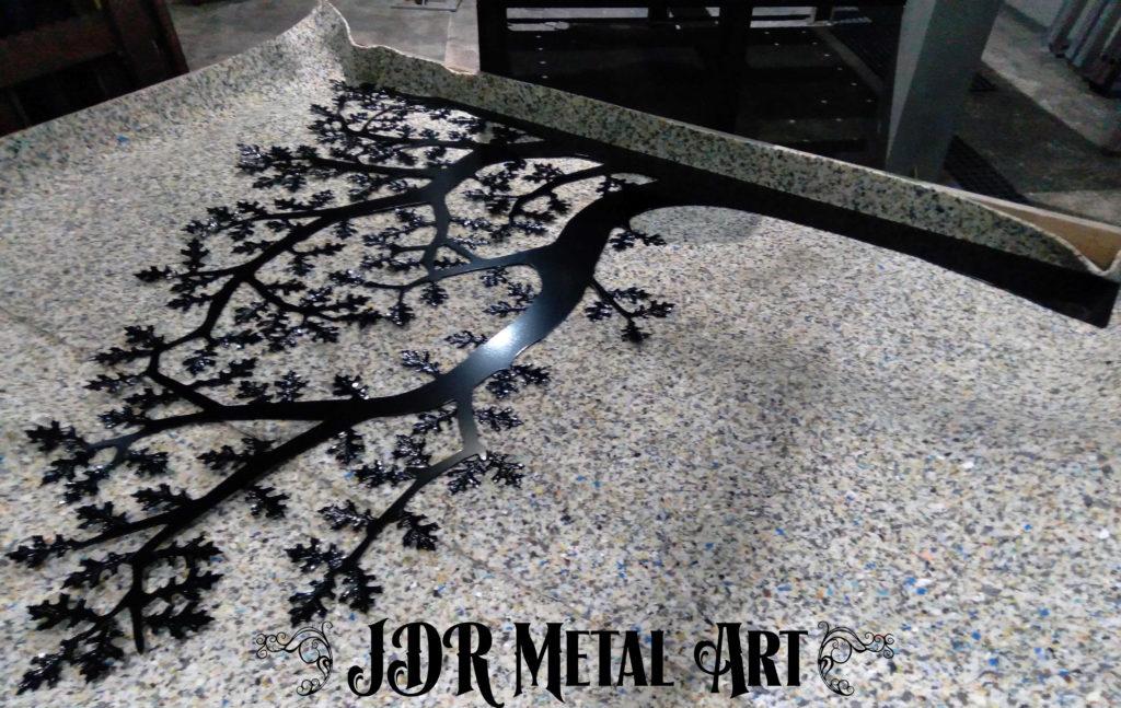 Oak tree plasma cut and powder coated black