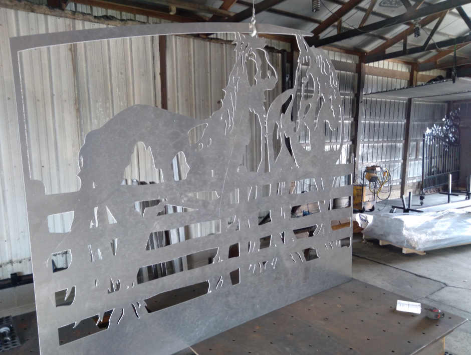 manufactured driveway gate panel