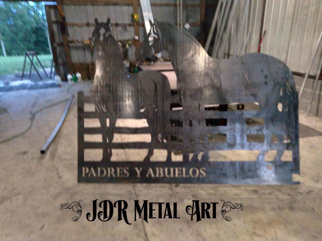 Steel driveway gate panel