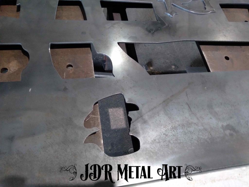 steel gate with plasma cut ranch gate logo